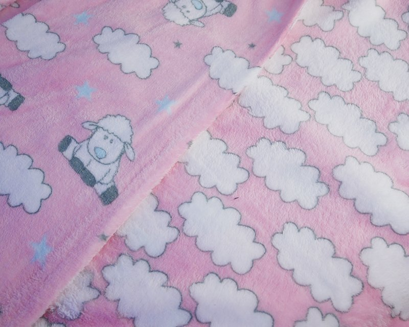 Reversible Sheep and Cloud Cuddle Fleece