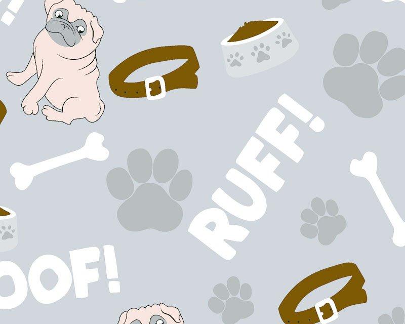 Pug Paw Polycotton