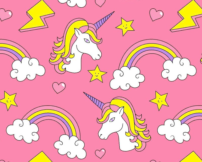 Rainbow Unicorn Polycotton