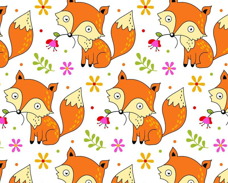 Foxes Polycotton