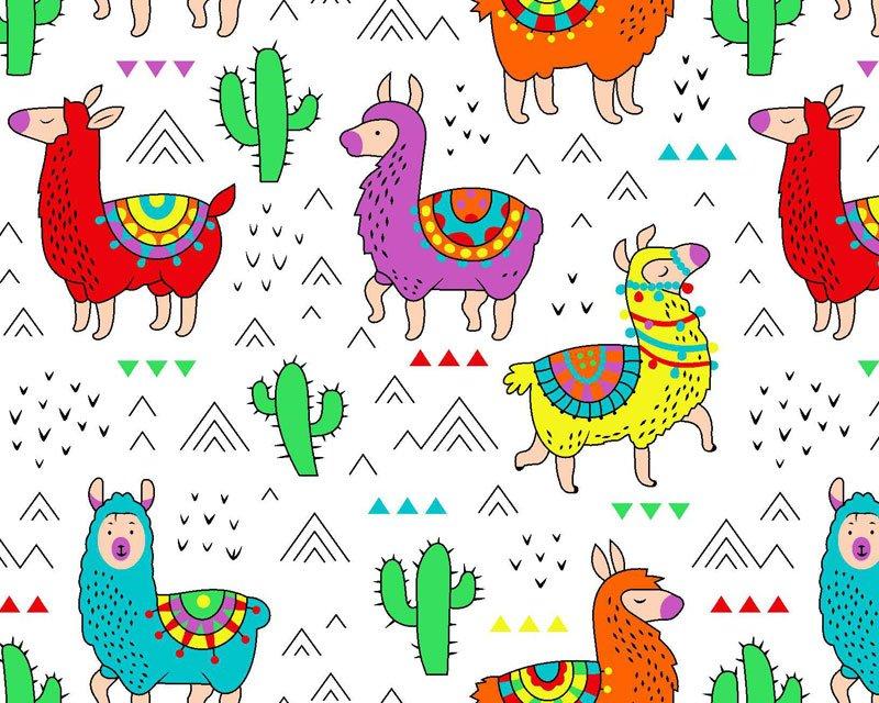 Cactus Llama Polycotton