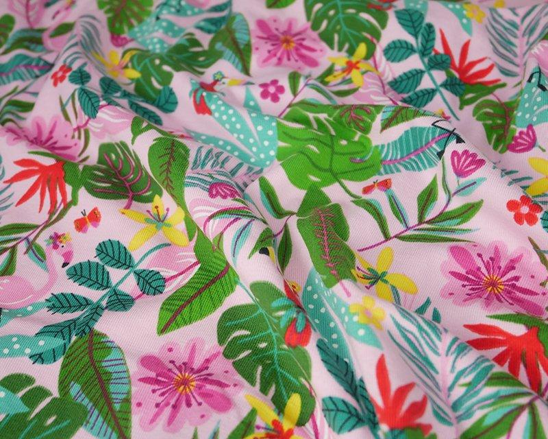 Flamingo Cotton Jersey