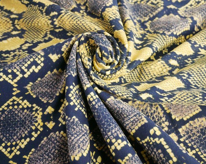 Snake Skin Cotton Jersey