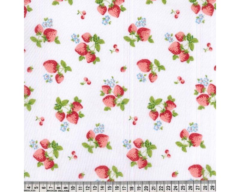 Sally Polycotton Strawberry