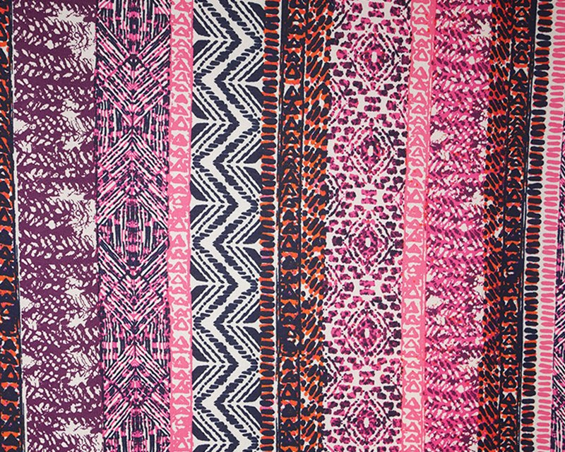 Aztec Stretch Georgette