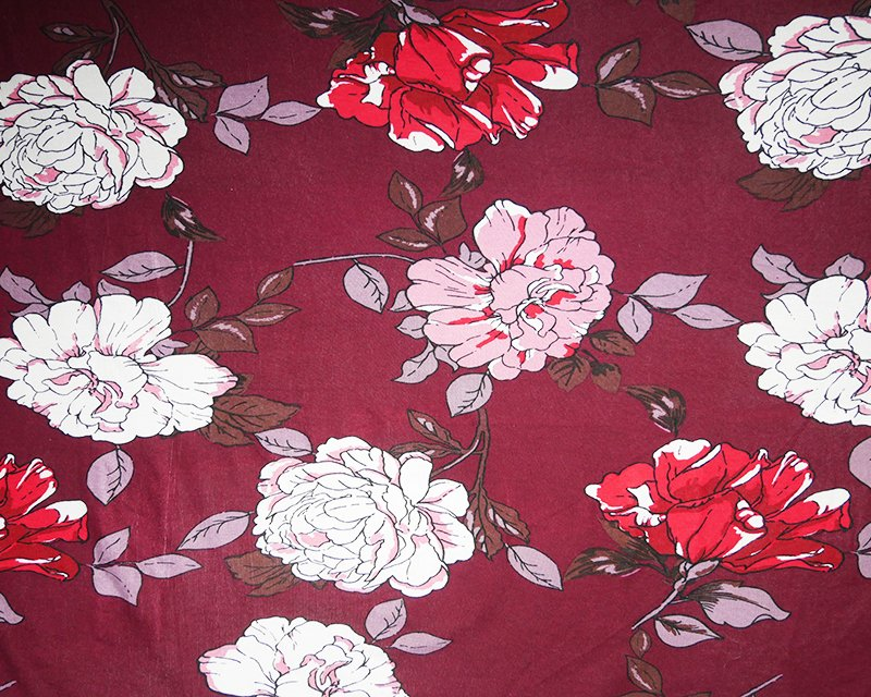 Large Flower Viscose Jersey