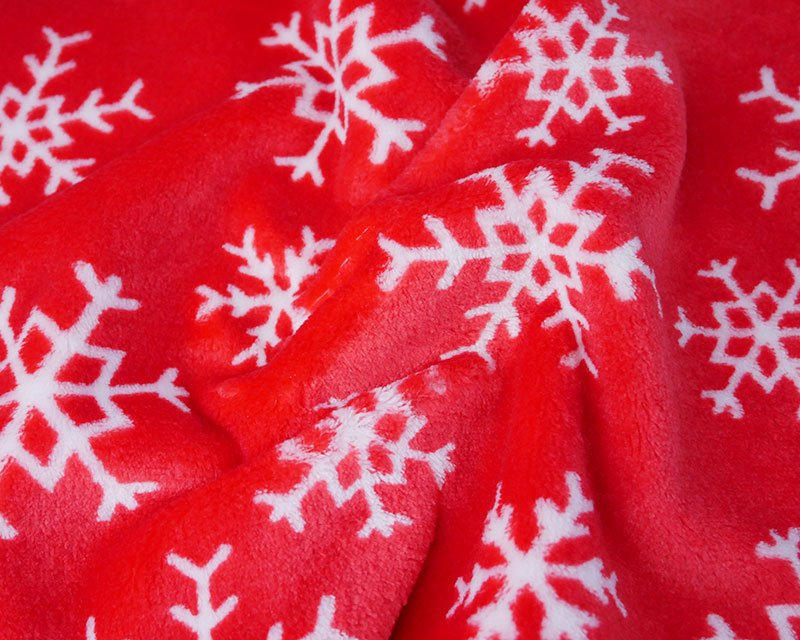 Christmas Snowflake Cuddle Fleece