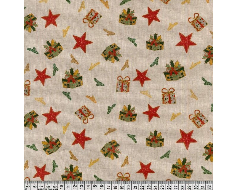 Premium Linen Look Canvas Christmas Star Gifts