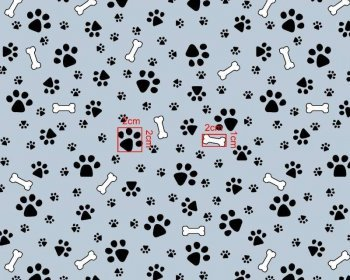 Paws and Bones MP Polycotton