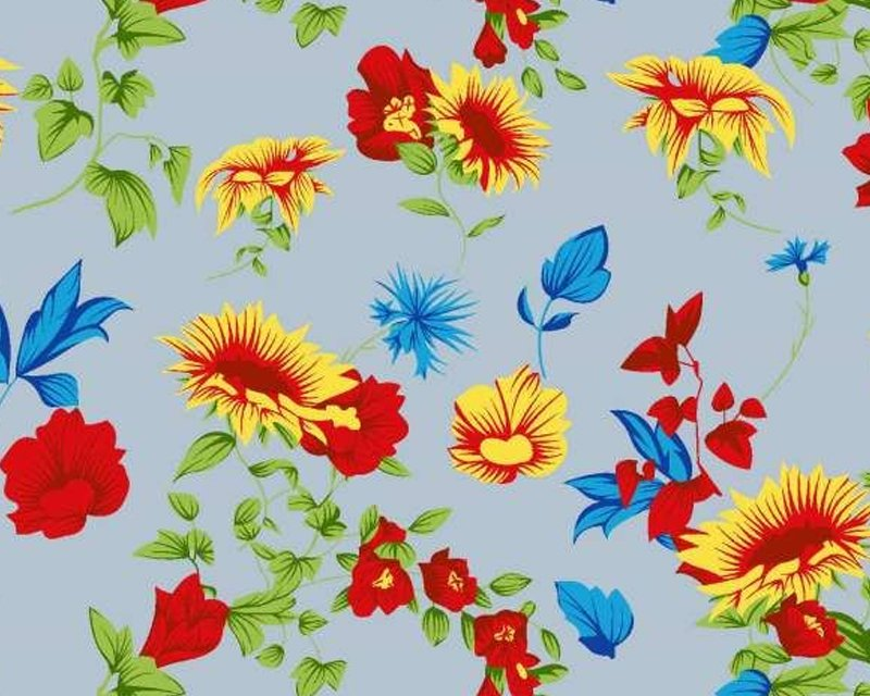 Country Flower MP Polycotton