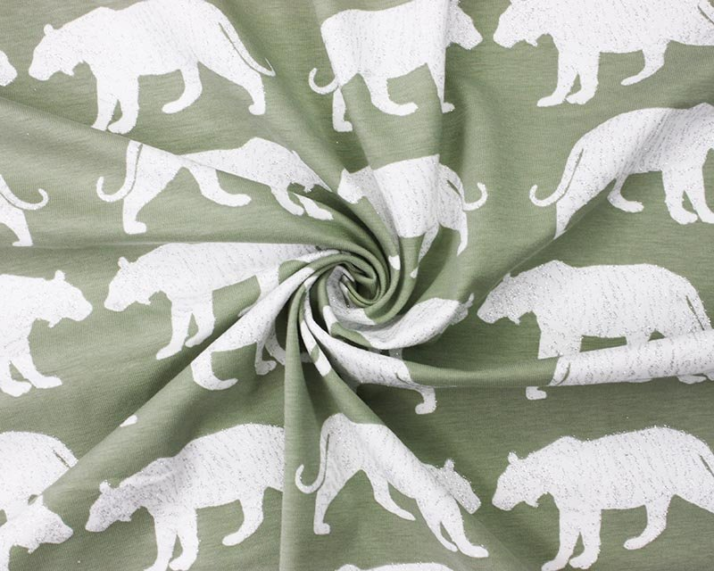 Glitter Tiger Cotton Jersey
