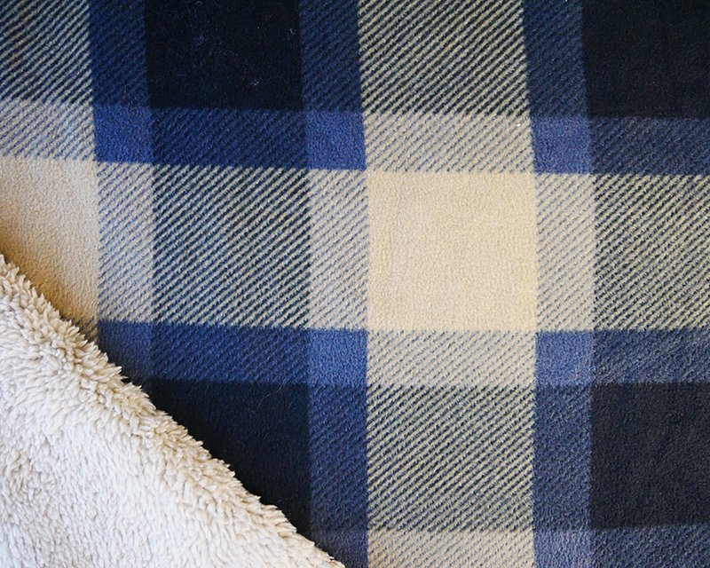 Bonded Sherpa Backed Fleece Tartan