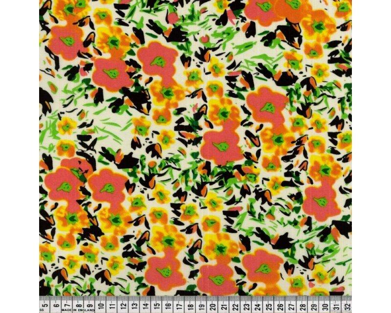 Floral Polyester Pique