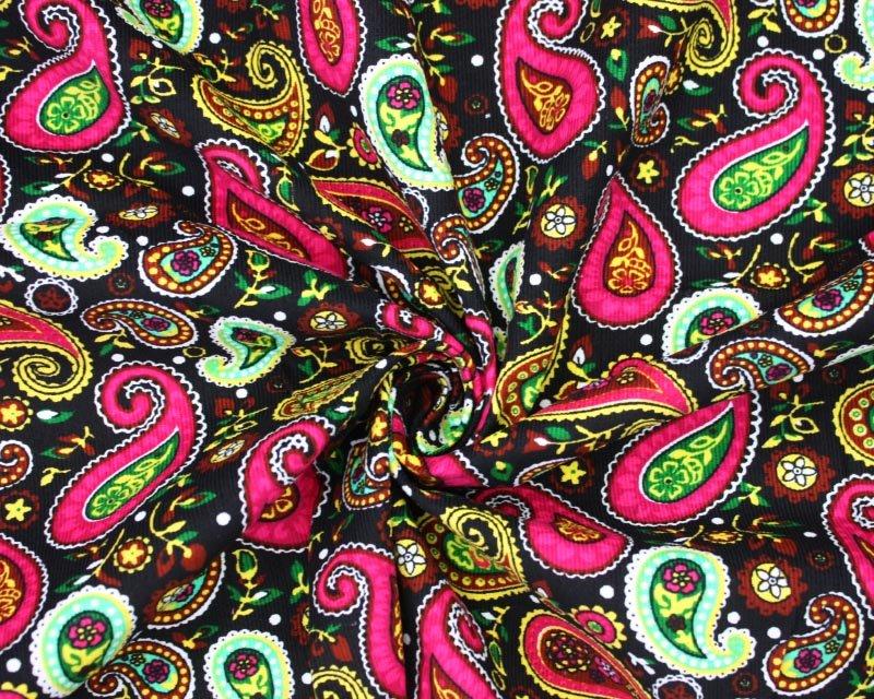 Vibrant Paisley Cord
