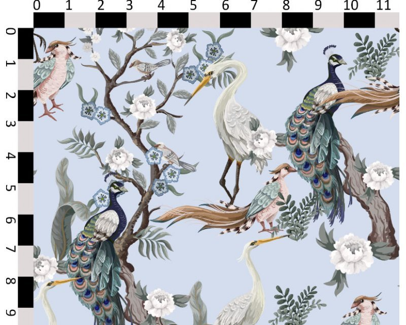 Little Johnny -  Peacock Birds Cotton