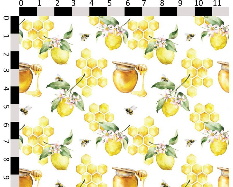 Little Johnny -  Honeycomb Lemons Cotton