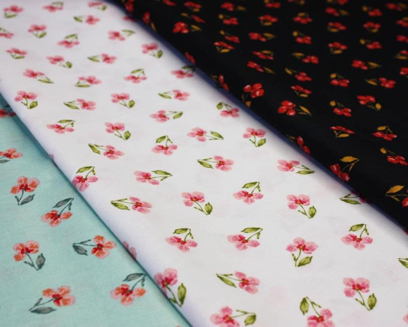 Flowers Organic Cotton Poplin
