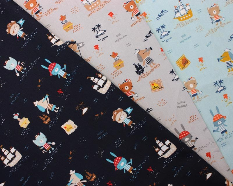 Pirates Ahoy! Organic Cotton Poplin