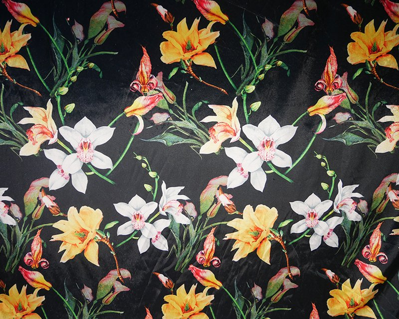 Orchids Digital Stretch Velour