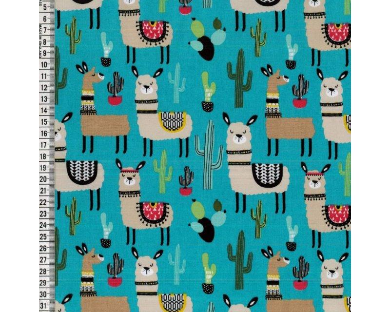 Cactus Llama Cotton