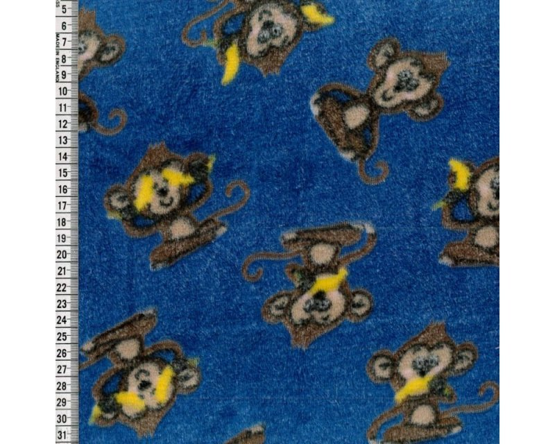 Monkeys Jacquard Cuddle Fleece
