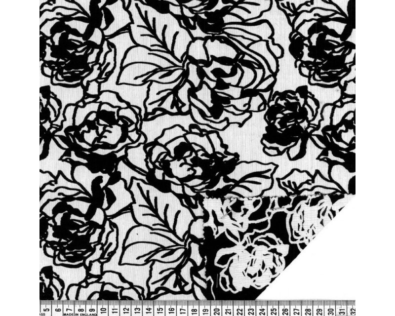 Reversible Rose Jacquard