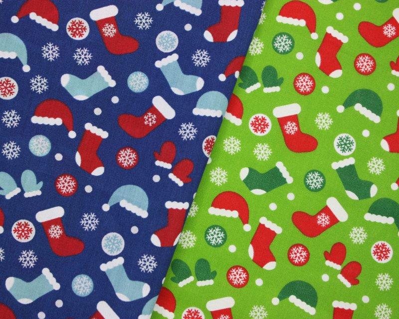 Sally Polycotton Stockings Christmas