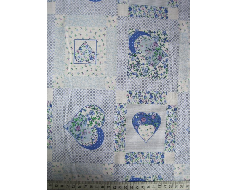 Sally Polycotton Patchwork Hearts