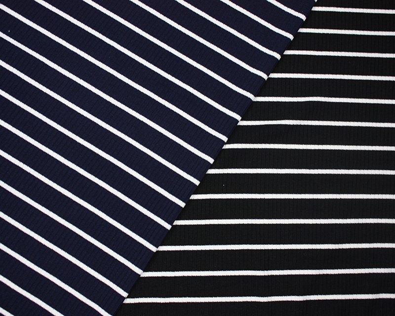 Bold Stripe Ribbing Jersey