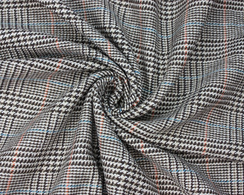 Woven Wool Mix Dogtooth Check