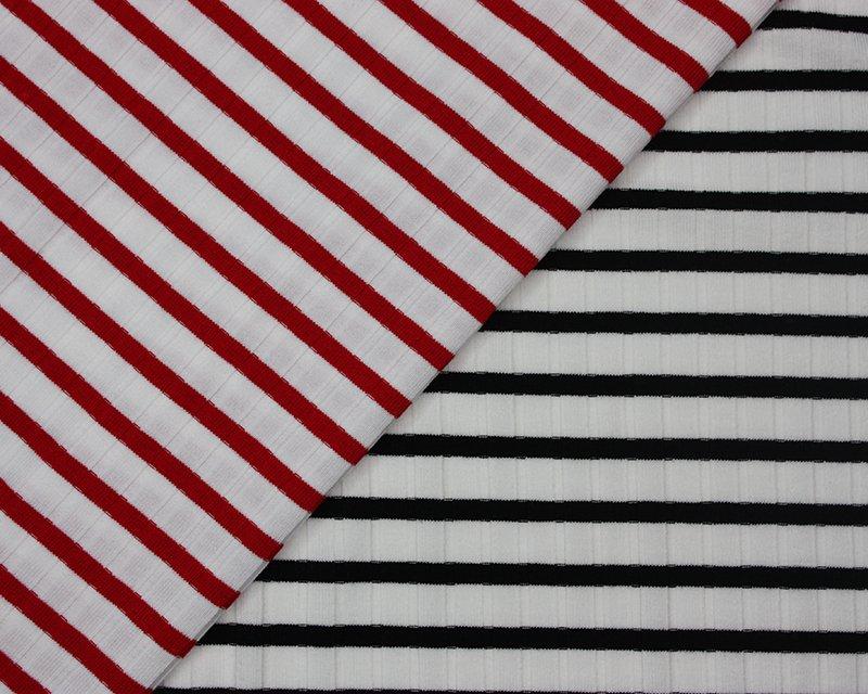 Wide Stripe Ribbing Jersey