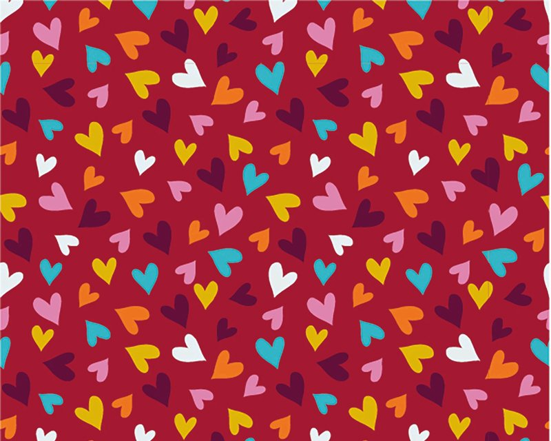 Mini Hearts Cotton Jersey