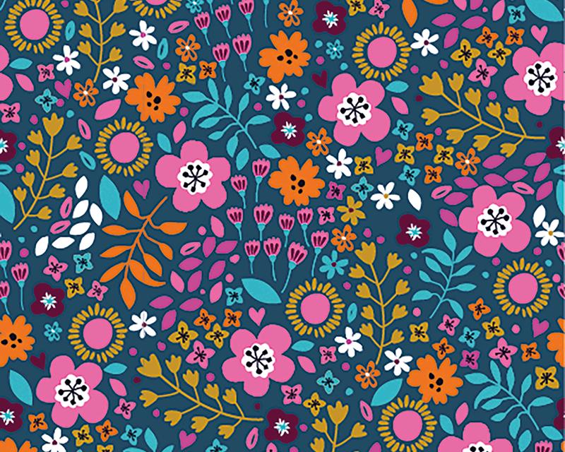 Wild Flower Cotton Jersey