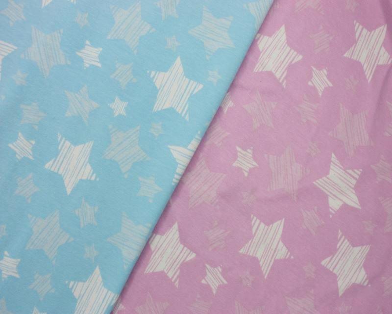 Striped Stars Cotton Jersey