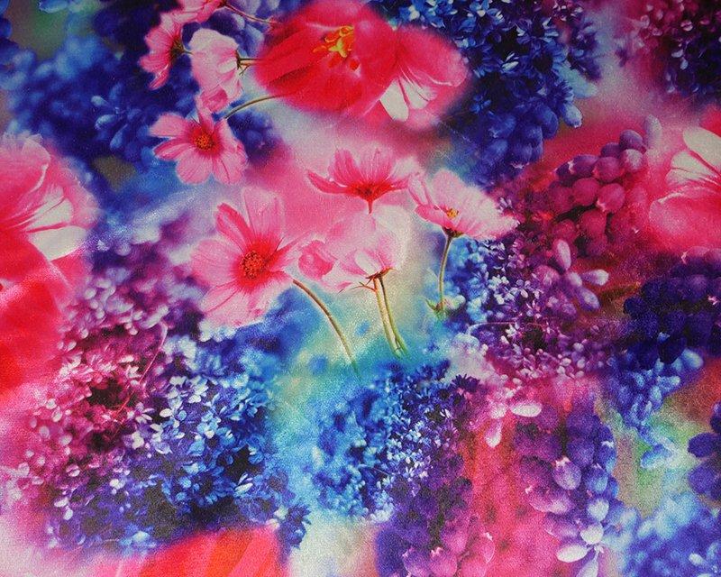 Floral Digital Stretch Velour