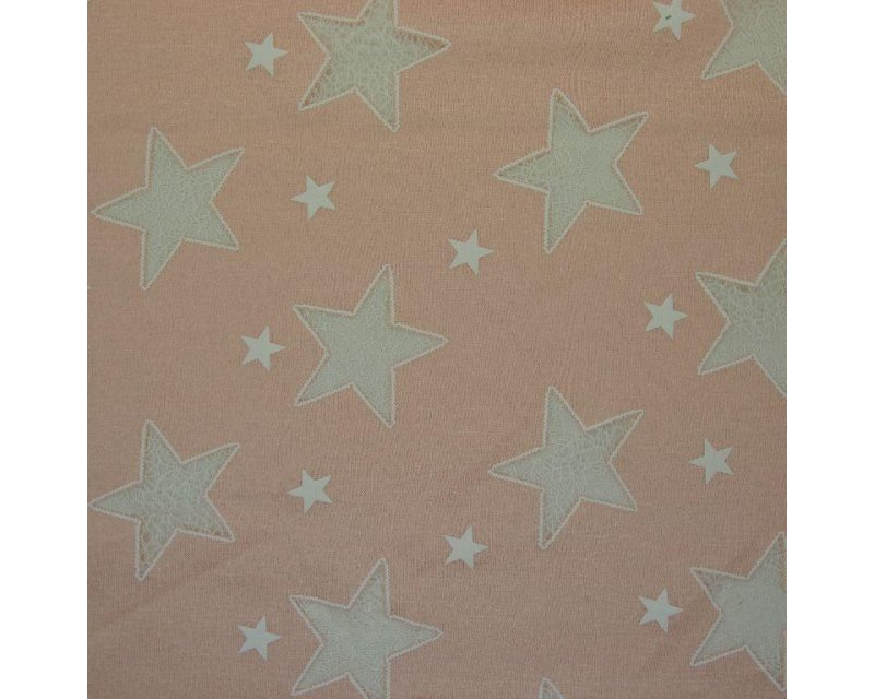 Burn Out Star Poly Viscose