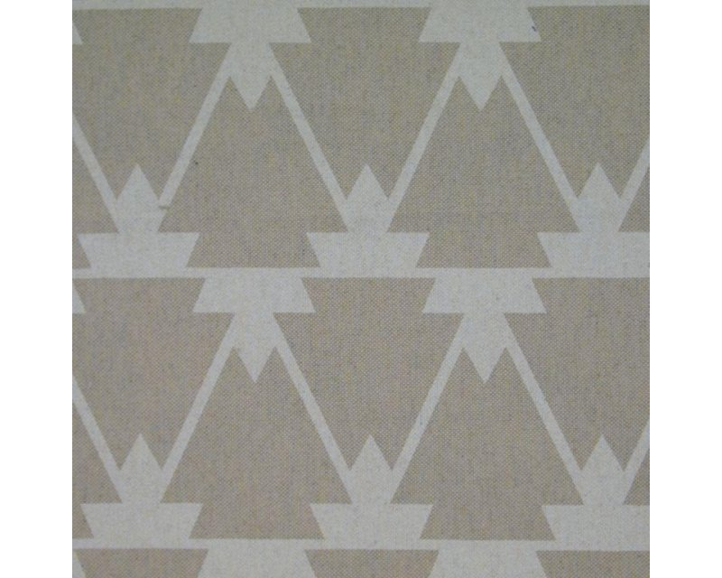Linen Look Canvas Geometric