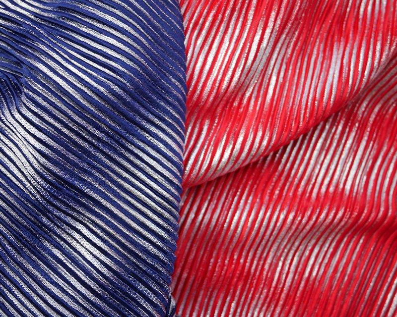 Foil Pleated Jersey