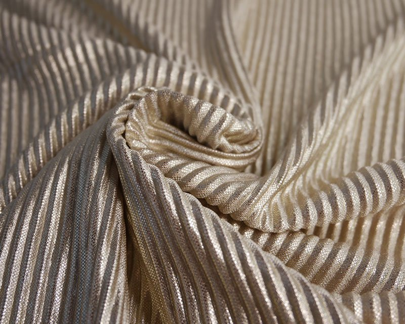 Metallic Pleated Jersey