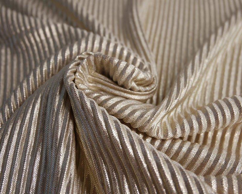 Metallic Pleated Jersey