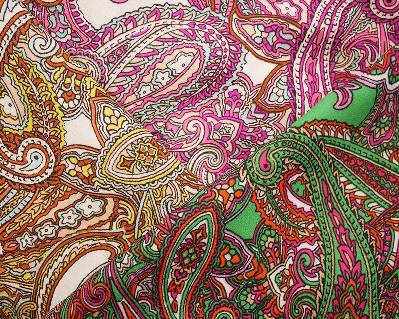 Paisley Double Georgette