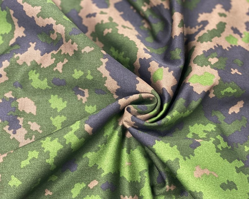 Cotton Sateen Camouflage