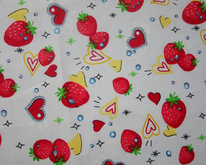 Spot/Heart Strawberry Cotton