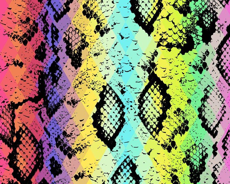 Little Johnny - Rainbow Snake Skin Cotton