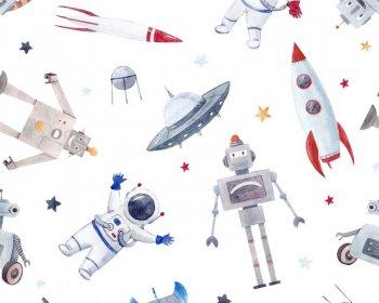 Little Johnny - Space Robots Cotton