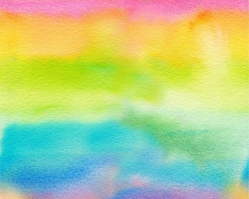 Little Johnny - Water Colour Rainbow Cotton