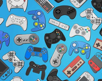 Little Johnny - Video Game Controllers Cotton