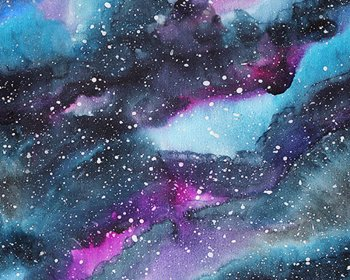 Little Johnny - Water Colour Galaxy Cotton