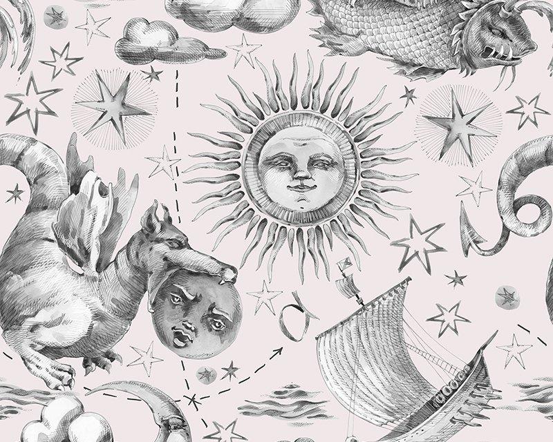 Little Johnny - Retro Nautical Watercolour Cotton