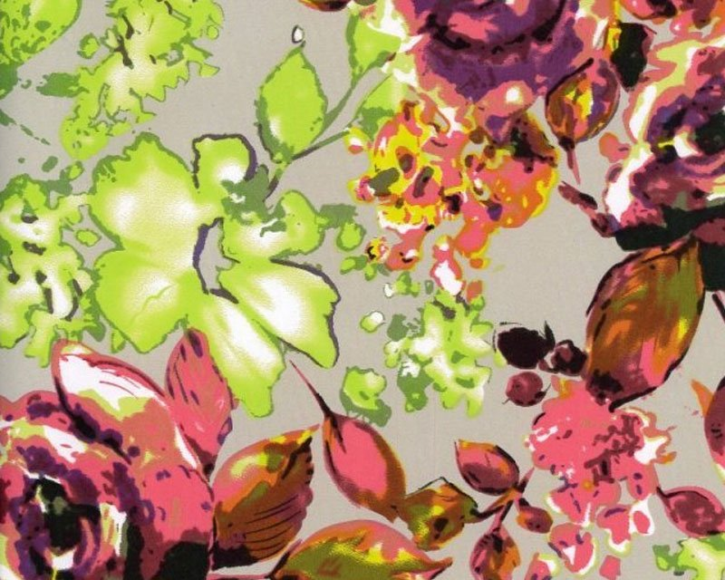 Flower Stretch Sateen